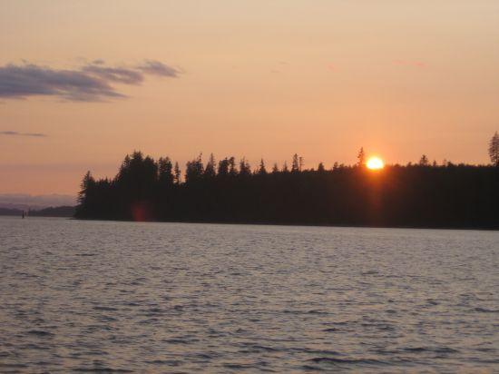 sunset in Alert Bay