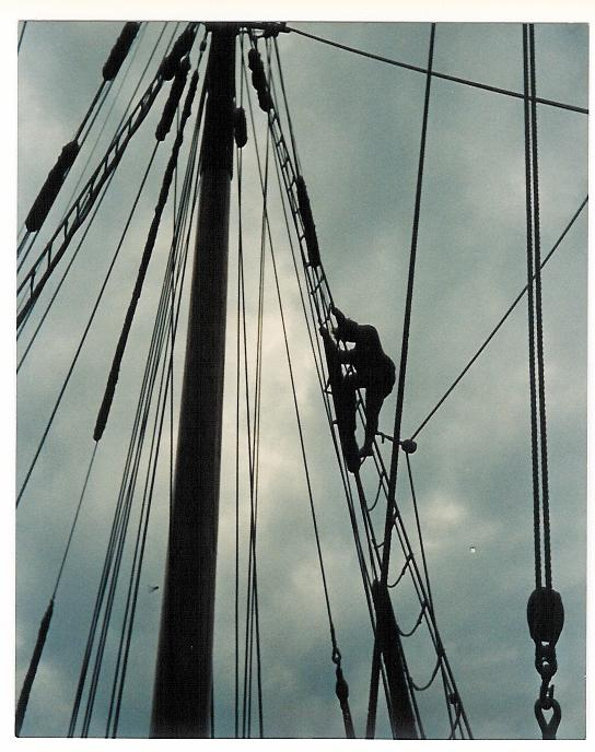 Joni in the Rigging