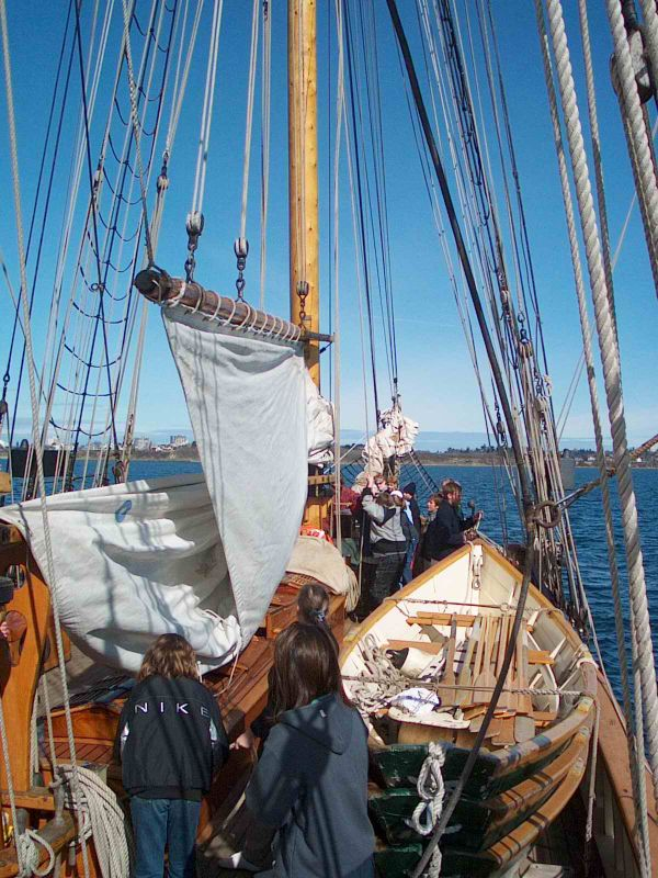 Raising the Foresail