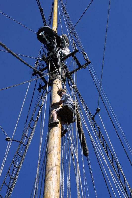 Colin and the mast