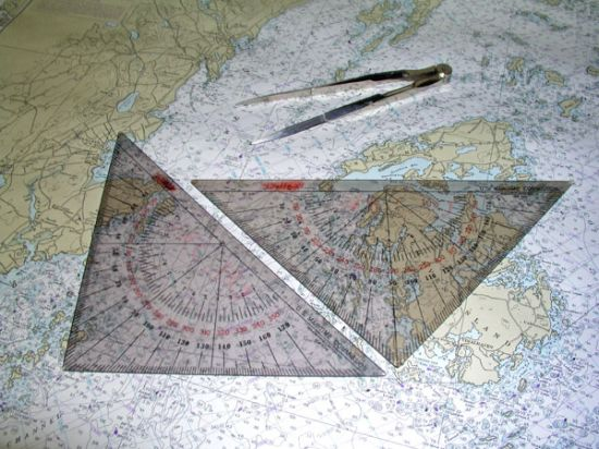 Navigation Triangles and Compasses