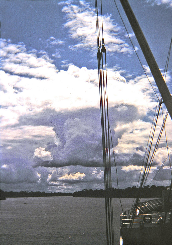 Solitary Thunderhead on the Amazon River