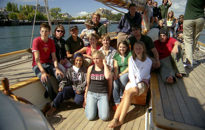 Some of us on the boat in Victoria