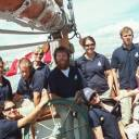 Crew: the Pacific Grace Crew, and Simon. I think 10 days at sea was a little too much for poor Skipper. (Nathan is missing in the picture! :( )