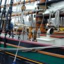 Midships View: A Vide from the dock of the Grace from midships