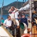 Some crew members: First Mate Anthonie, Bosun John and Skipper Martyn