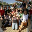 Some of us on the boat in Victoria: