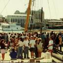 A good send off: The were quite a few people there to see the 1991 offshore away