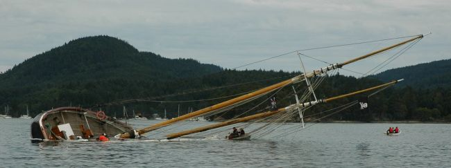 Robertson II Aground off Winter Cove near Saturna Is.