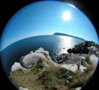 Fisheye view from Middle Head in Cape Bretton
