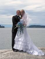 At our wedding site in Sechelt BC