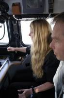 Kellei at the controls