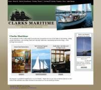 Screenshot of the clarksmaritime.com site